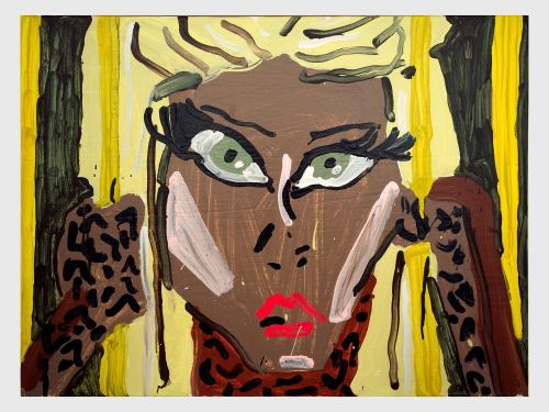 Katherine Bernhardt, Cheeta Minaj, 2013. Acrylic on canvas, 18 x 24 in, 46 x 61 cm