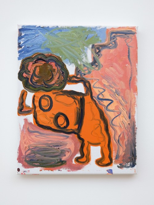 Bjarne Melgaard, Untitled, 2019. Oil on canvas, 17 x 13 in, 42 x 32 cm
