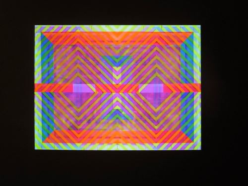 Ben Jones, Video Painting 6, 2013. Acrylic on canvas and RGB video Video projected on painting, 148 x 198 cm