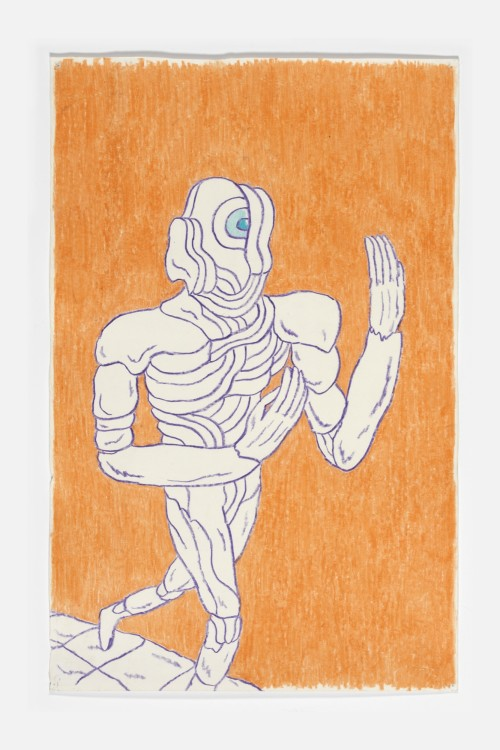 Mat Brinkman, Untitled Cyclops. Crayon on paper, 20 x 16 in, 50 x 40 cm