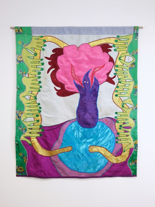 Moki Cherry, Spirit, 1976. Textile, 47 x 39 in, 120 x 98 cm