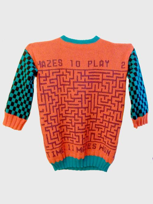 Jim Drain, Untitled (Atari Maze Seater), 2009. Knit Sweater