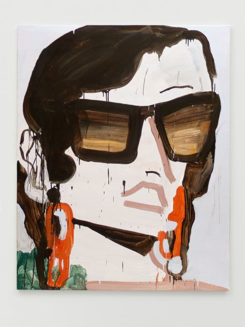 Katherine Bernhardt, Prada Occhiali, 2011. Acrylic on canvas, 60 x 48 in, 152 x 122 cm