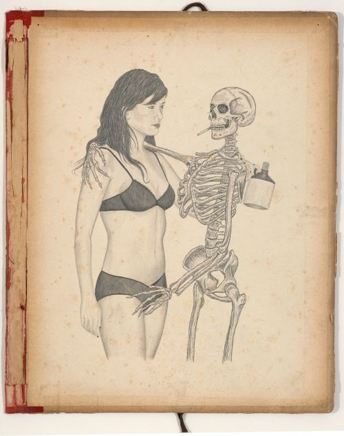 Wes Lang, I Know I Will Meet Death That Way, 2006. Pencil on paper, 14 x 10 in, 35 x 25 cm