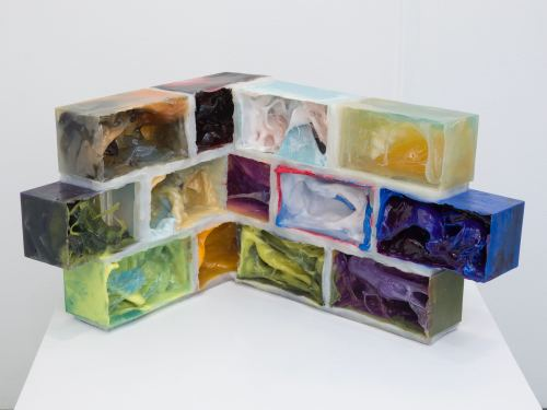 Jesse Greenberg, Foundation, 2012. Resin, pigment, silicone, 14 x 20 x 25 in, 36 x 51 x 64 cm