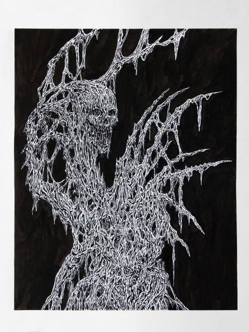 Mat Brinkman, Afterbirth Afterlife 4, 2013. Sumi ink on paper, 14 x 11 in, 36 x 28 cm