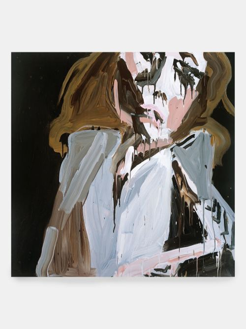 Katherine Bernhardt, Cocaine Kate, 2006. Acrylic on canvas, 48 x 48 in, 122 x 122 cm