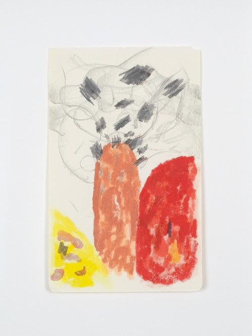 Alvaro Barrington, Two Fathers, 2019. Mixed media on paper, 8 × 5 in, 20 × 13 cm