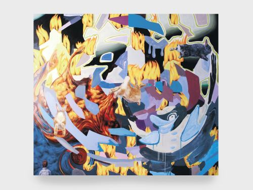 Joachim Cossais, Three Kings, 2009. Oil on canvas, 63 x 55 in, 160 x 140 cm