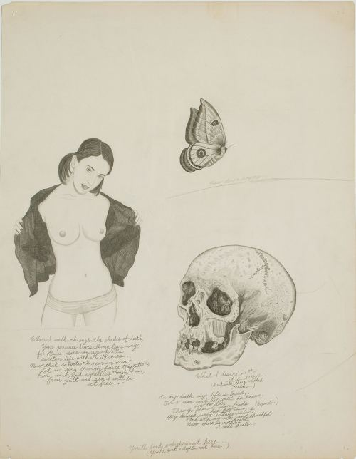 Wes Lang, I Trust Eddie Martinez And I'm Not Afraid To Die, 2006. Pencil on paper, 20 x 15 in, 51 x 39 cm