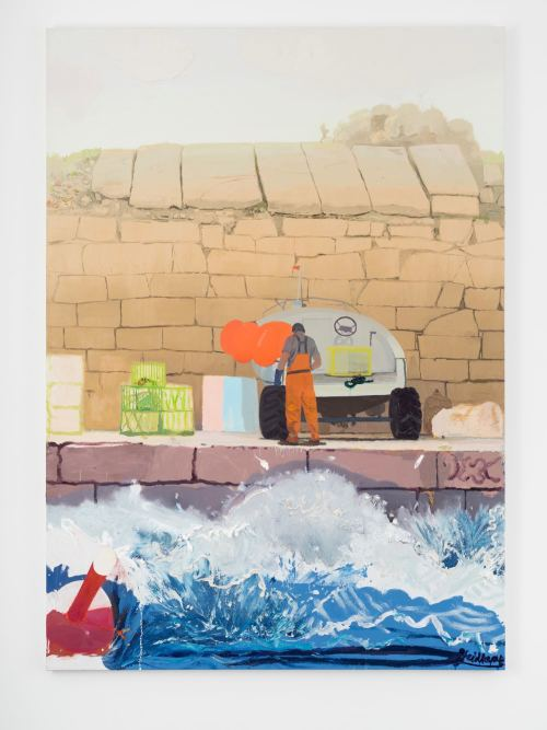 Daniel Heidkamp, Warp the Wharf, 2016. Oil on linen, 84 x 60 in, 213 x 152 cm