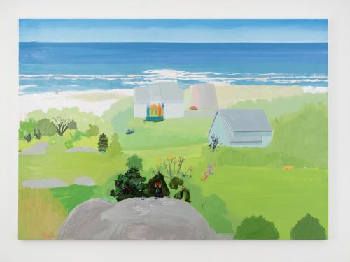 Daniel Heidkamp, Beach Housing Bubble, 2016. Oil on linen, 60 x 84 in, 152 x 213 cm