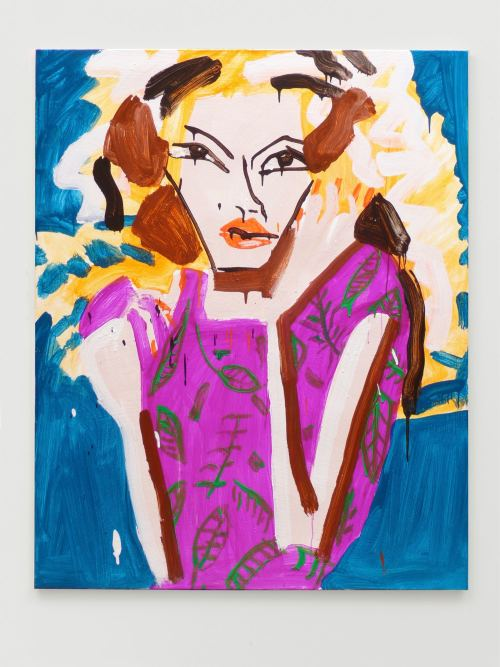 Katherine Bernhardt, Dior, 2011. Acrylic on canvas, 60 x 48 in, 152 x 122 cm