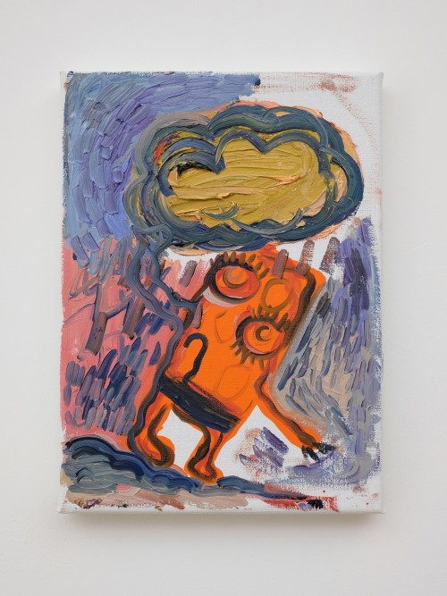 Bjarne Melgaard, Untitled, 2019. Oil on canvas, 13 x 9 in, 33 x 24 cm
