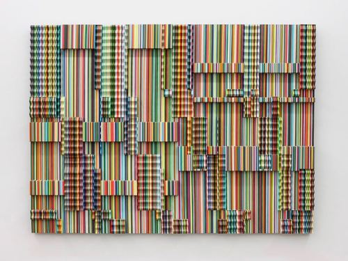 Ara Peterson, Untitled (Multi-Color Panel), 2008. Wood and acrylic paint, 47 x 63 x 4 in, 119 x 160 x 10 cm