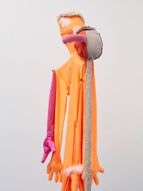 Textile, wood, steel, acrylic, plastic, polyester, 158 x 108 x 62 cm