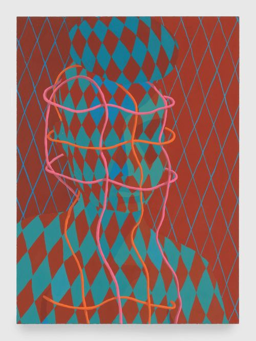 Sascha Braunig, Braces, 2013. Acryla-gouache on paper, framed with museum glass, 15 x 10 in, 38 x 25 cm
