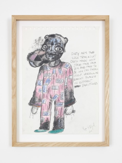 Bjarne Melgaard, Untitled, 2014. Pen on paper, 13 x 9 in, 32 x 23 cm