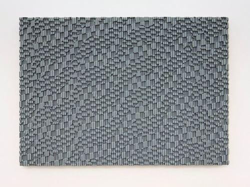 Ara Peterson, Untitled (Grey Panel), 2008. Wood and acrylic paint, 48 x 65 x 2 in, 122 x 165 x 5 cm