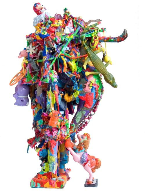 Joe Grillo, Mutant Pop Sculpture 2, 2009. Toys, acrylic, adhesive, 19 x 12 x 10 in, 48 x 31 x 26 cm 2