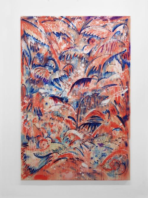 Jim Thorell, Marsian Trap, 2015. Acrylic and oil on canvas, 59 x 39 in, 150 x 100 cm