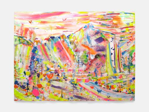 Brendan Cass, Crystal Canyon, 2004. Acrylic on canvas, 67 x 90 in, 170 x 228 cm