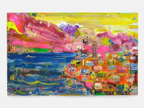 Brendan Cass, Lake Guarda, 2004. Acrylic on canvas, 60 x 96 in, 152 x 244 cm