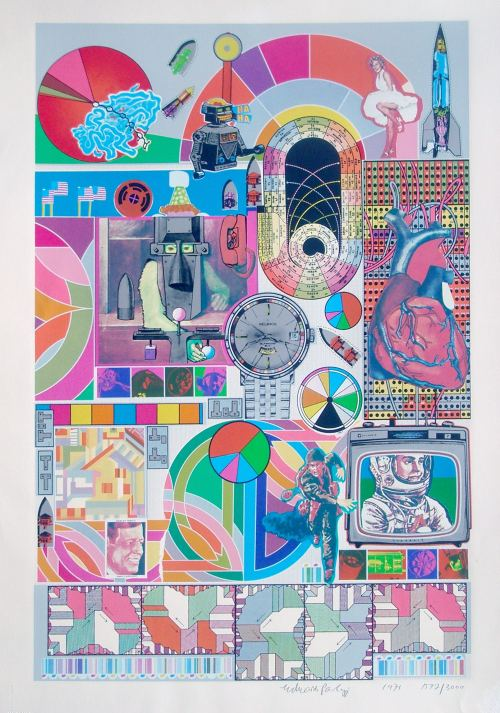 Eduardo Paolozzi, B.A.S.H.. Screenprint on paper