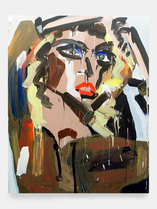 Katherine Bernhardt, M.I.A., 2007. Acrylic on canvas, 60 x 48 in, 152 x 122 cm