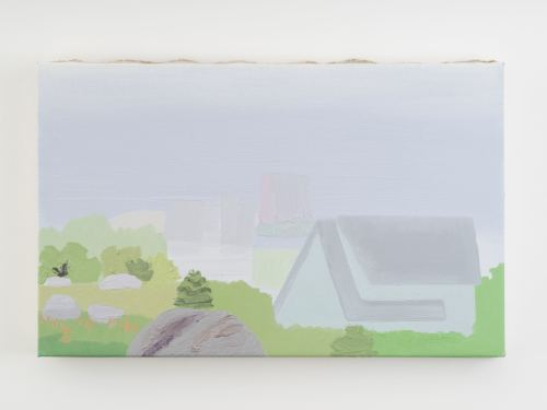 Daniel Heidkamp, Another Vapor World, 2016. Oil on linen, 15 x 24 in, 38 x 61 cm