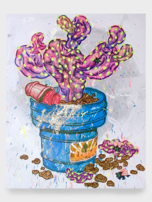 Taylor McKimens, Jolly Jumpin Prickly Pear, 2010. Acrylic on canvas, 60 x 48 in, 152 x 122 cm