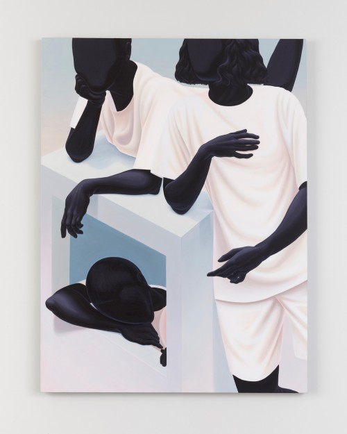 Alex Gardner, In a Box, 2018. Acrylic on linen, 48 x 36 in, 122 x 91 cm