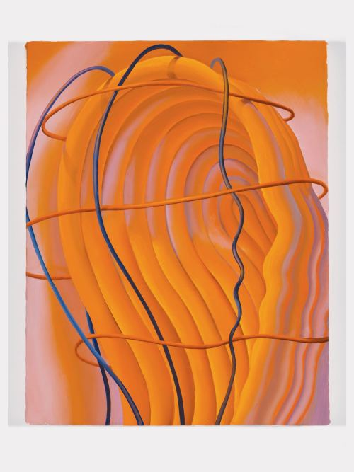 Sascha Braunig, Veined, Cuffed, Brained 2, 2013. Oil on canvas over panel, 14 x 11 in, 36 x 28 cm