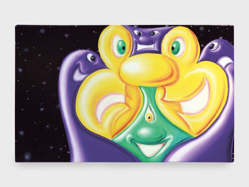 Kenny Scharf, Chunkarina, 2010. Oil on linen with aluminum frame, 16 x 26 in, 40 x 66 cm