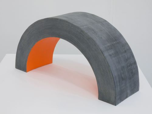 Jesse Greenberg, Hand Bridge, 2012. MDF, plaster, acrylic paint, 12 x 20 x 10 in, 30 x 51 x 25 cm
