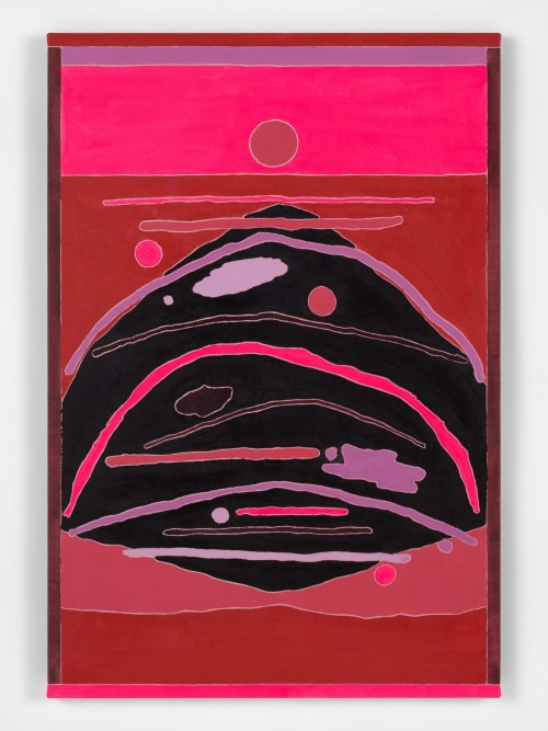 Russell Tyler, Under the Red Moon, 2020. Acrylic on canvas, 44 x 30 in, 112 x 76 cm
