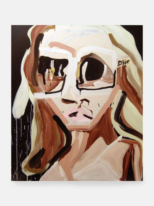Katherine Bernhardt, Dior Sunglasses, 2007. Acrylic on canvas, 72 x 60 in, 183 x 152 cm