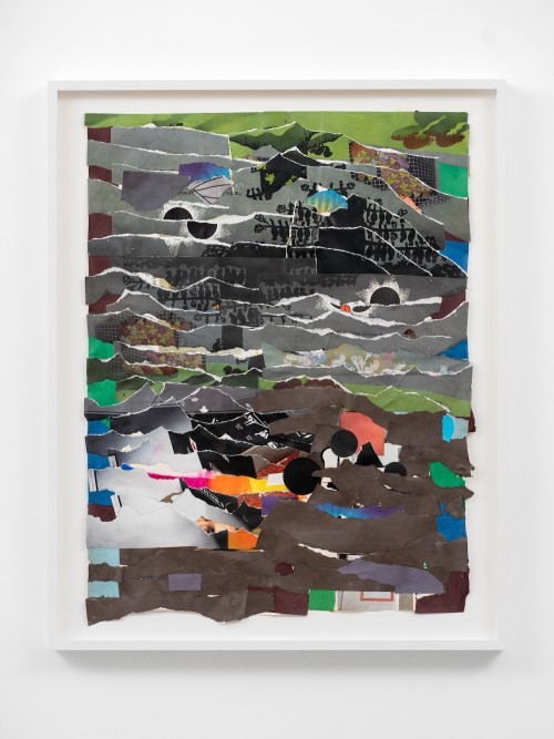 Brian Belott, The Reassembler 9, 2020. Acrylic and collage on paper, 21 x 16 in, 53 x 41 cm