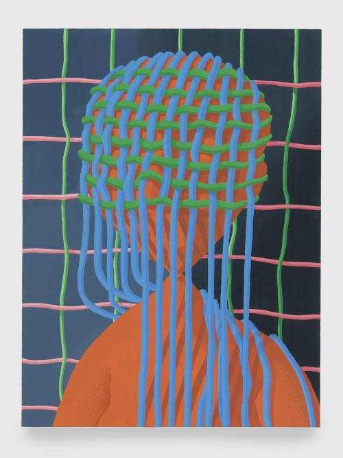 Sascha Braunig, Pucker, 2013. Acryla-gouache on paper, framed with museum glass, 14 x 10 in, 36 x 25 cm