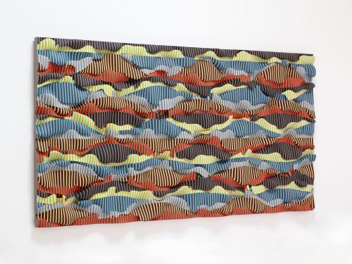 Ara Peterson, Untitled, 2013.  Wood and acrylic paint, 48 x 96 x 4 in, 122 x 243 x 10 cm