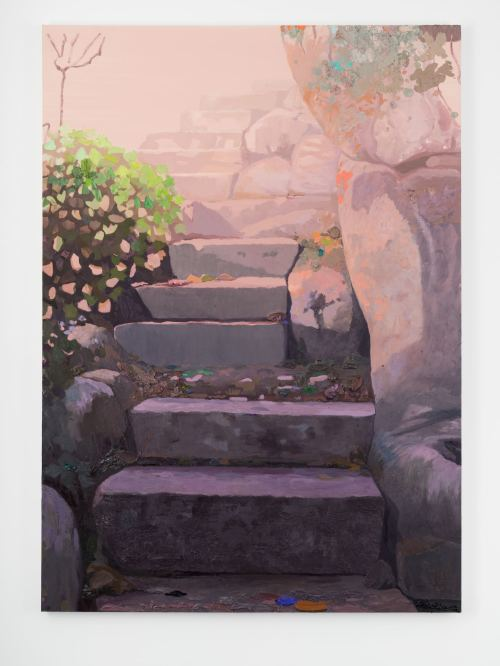 Daniel Heidkamp, Gigantic Steps, 2016. Oil on linen, 84 x 60 in, 213 x 152 cm