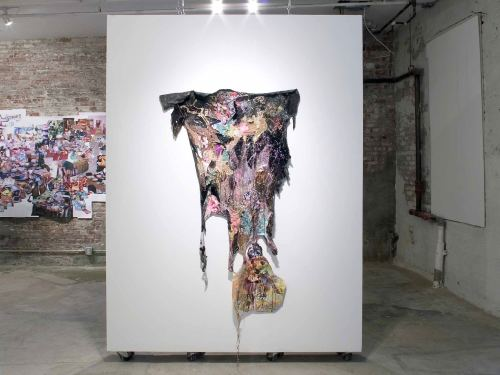 Francine Spiegel, I'm Sorry Party Animal, 2005. Mixed media 60 x 40 in, 152 x 101 cm