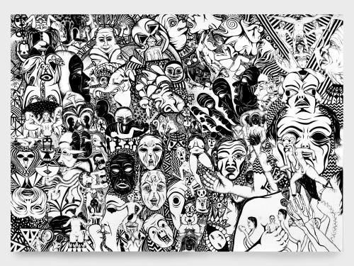 Lisa Jonasson, Untitled, 2007. Ink on paper, 27 x 39 in, 69 x 100 cm