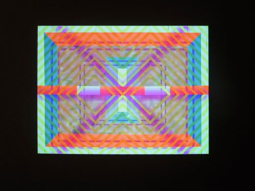 Ben Jones, Video Painting 6, 2013. Acrylic on canvas and RGB video Video projected on painting, 58 x 78 in, 148 x 198 cm