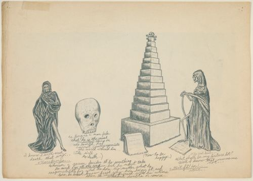 Wes Lang, A Day in the Life of Hans Bronze, 2006. Pencil on paper, 10 x 14 in, 25 x 37 cm